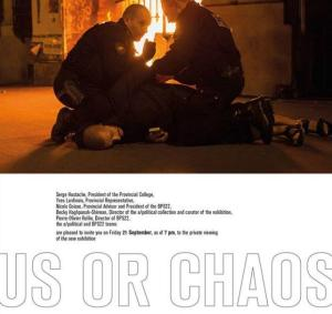 "DEMOCRACIA. Group show. ""Us or Chaos"". Curated by Becky Haghpanah-Shirwan. BPS22, Musée d'Art de la Province de Hainaut. From September 22nd, 2018 to January 6th, 2019"