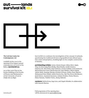 "Adrian Melis participa en la exposición colectiva ""Survival Kit 10.1"" en Latvian Centre for Contemporary Art"