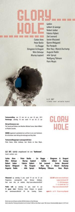 "Carlos Aires. Group show. ""Glory Hole"". LLS 387 Ruimte voor actuele Kunst (Antwerp, Belgium). From May the 19th to June the 30th, 2013"