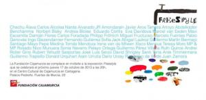 "Abdelkader Benchamma. Group show. ""Freestyle"". La Naval for Cajamurcia (Murcia, Spain). Opening October 17th, 2013"