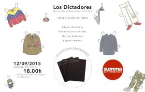 "Eugenio Merino. ""Los Dictadores"" book's presentation, with curator and writer Adonay Bermúdez. Summa Art Fair (Madrid, Spain). September 12th, 2015"